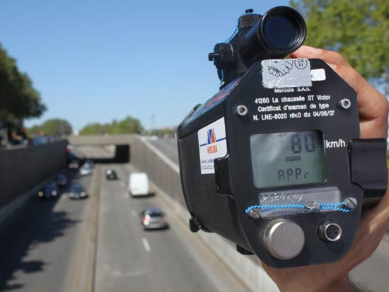 contrôle radar et retrait de permis